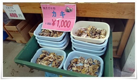 牡蠣ひと盛り1000円@蓑島カキ直売所