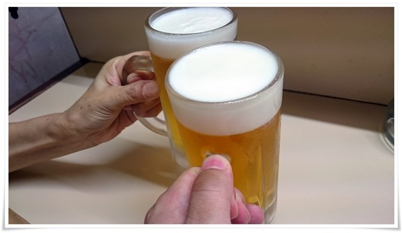 生ビールで乾杯@いち枝
