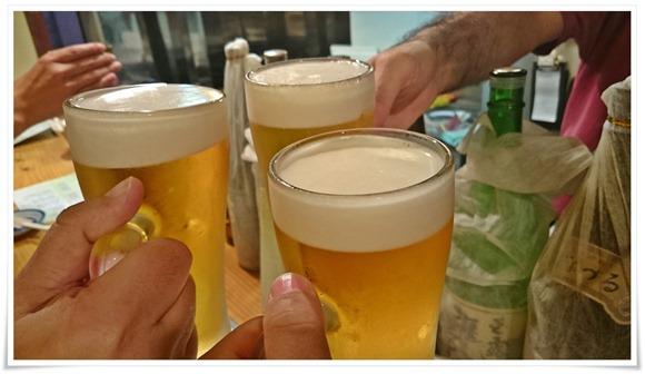生ビールで乾杯@からあげ韋駄天