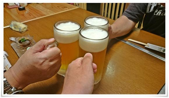 生ビールで乾杯@美なみ