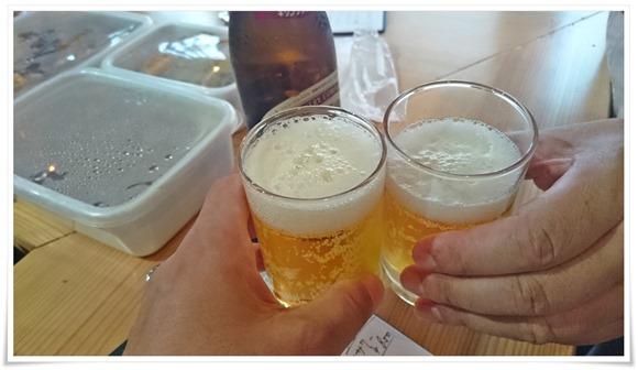 瓶ビールで乾杯@うつつ