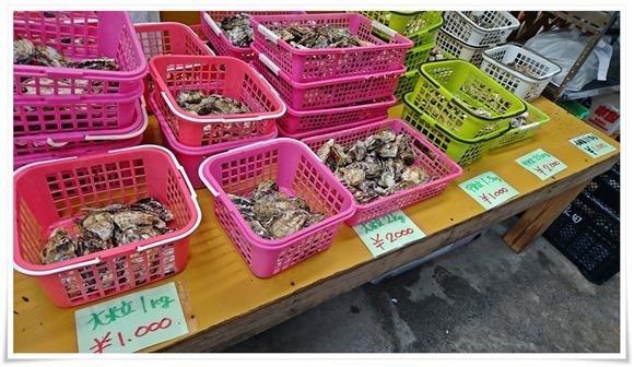 牡蠣はひと籠1000円@永田カキ直売所