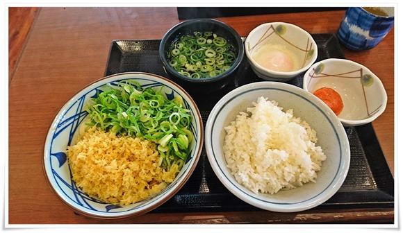 今日のオーダー@丸亀製麺