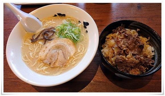 カルビ丼セット@六分儀ラーメン