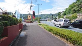 駐車場入口@リンガーハット 長崎宿町店