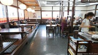 小上がりのテーブル席@資さんうどん大里店
