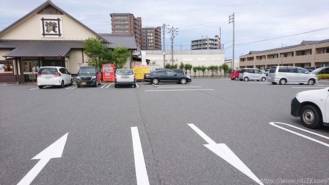 駐車場は早朝なのに@資さんうどん新下関店