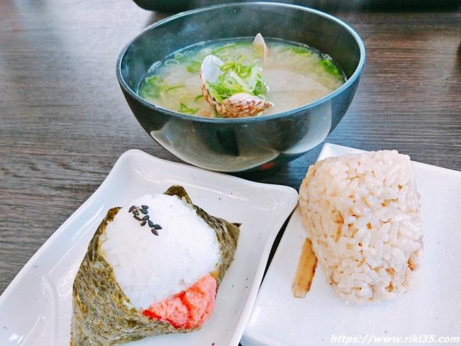 貝汁+明太おにぎり@資さんうどん幸神店