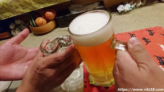 生ビールで乾杯@八幡東区中央町