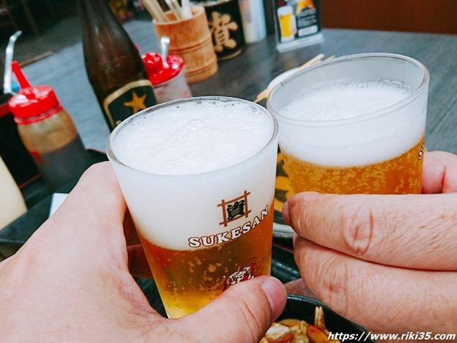 瓶で乾杯@資さんうどん陣山店