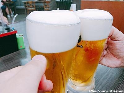 生ビール@資さんうどん陣山店