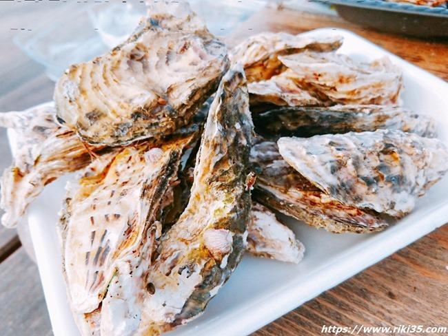 牡蠣盛り@お魚直売所 とと市場