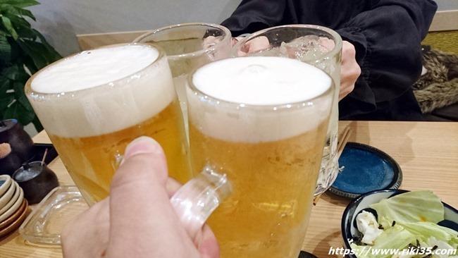 Wジョッキ乾杯@HARUNOKI(はるのき)