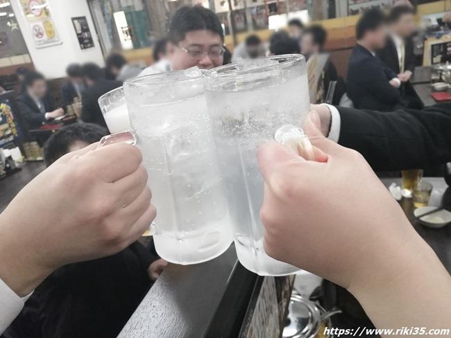 サラリーマン多数@資さんうどん魚町店