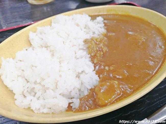 ミニカレー@資さんうどん魚町店