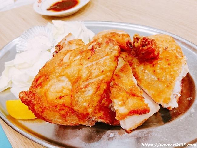 鶏の半身揚げ@餃子のたっちゃん銀天街店