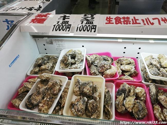 牡蠣コーナー@若松妙見かき小屋