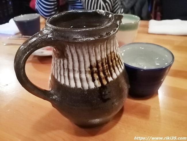 陶器で登場したお冷@喫茶 園