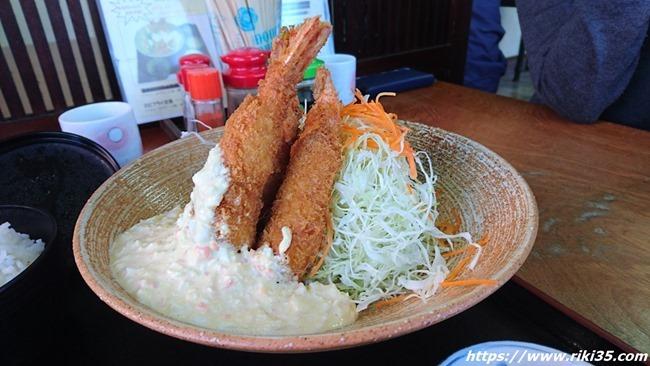 エビフライアップ@よねちゃん食堂