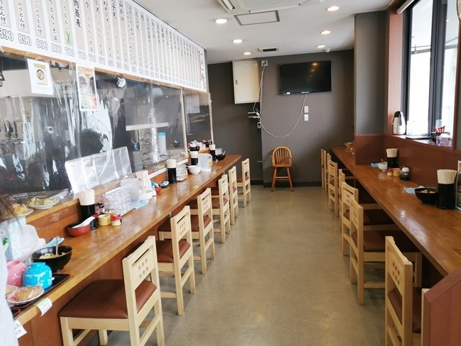 店内の様子@かかしうどん八幡東田店