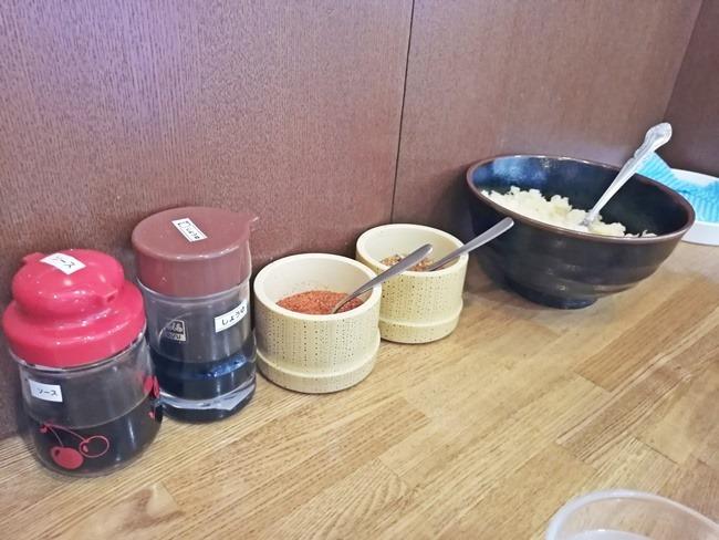 薬味の数々@かかしうどん八幡東田店