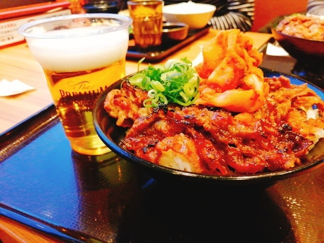 キムチカルビ丼大盛り@韓丼