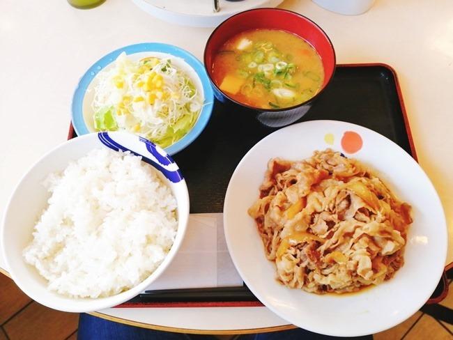 お肉どっさりグルメ豚汁セット@松屋穴生店