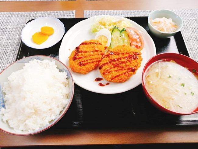 コロッケ定食@良いかげん食堂徳ちゃん