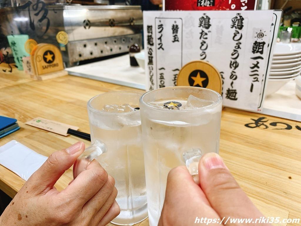 乾杯@朝麺'sいしちゃん