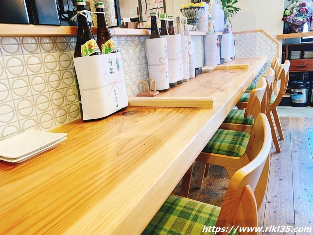 カウンター席@ぬかと料理とお酒ミサヲ