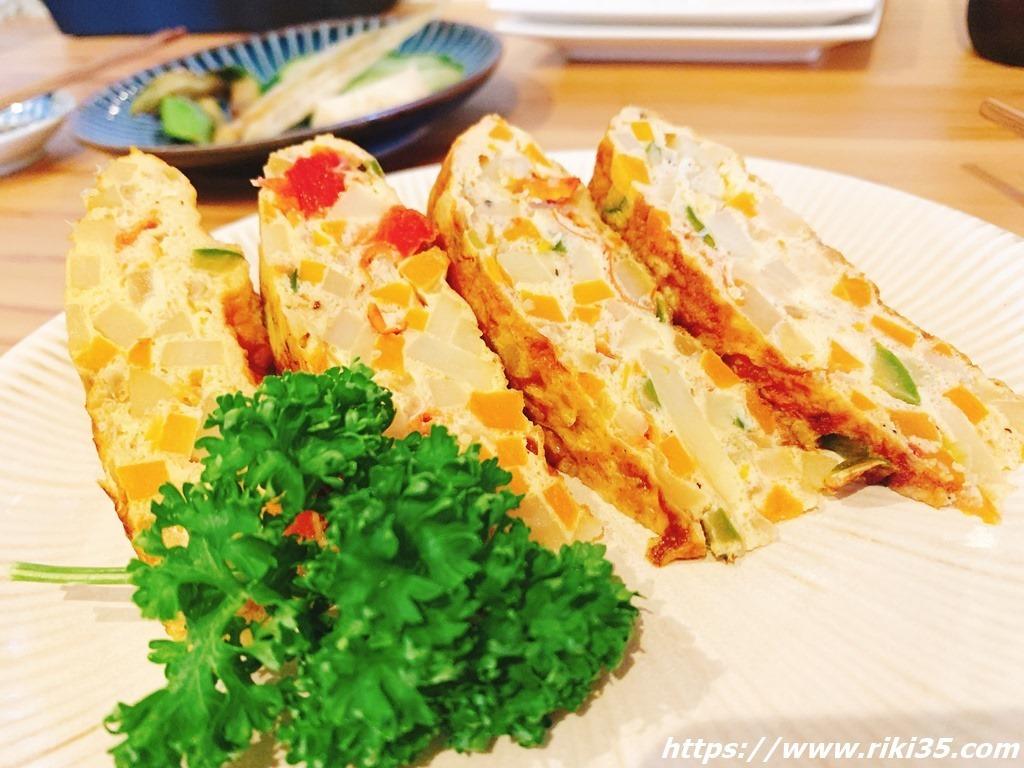 ゴロゴロ野菜のオムレツ@ぬかと料理とお酒ミサヲ